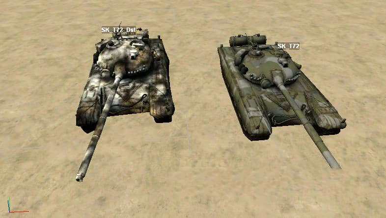 "Static object ""T-72"" for the map editor"