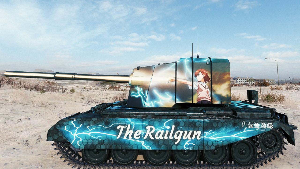 "FV 4005 Stage II Skin: ""The Railgun - Misaka Mikoto"""