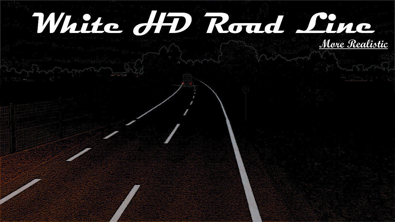 White HD Road Narrow