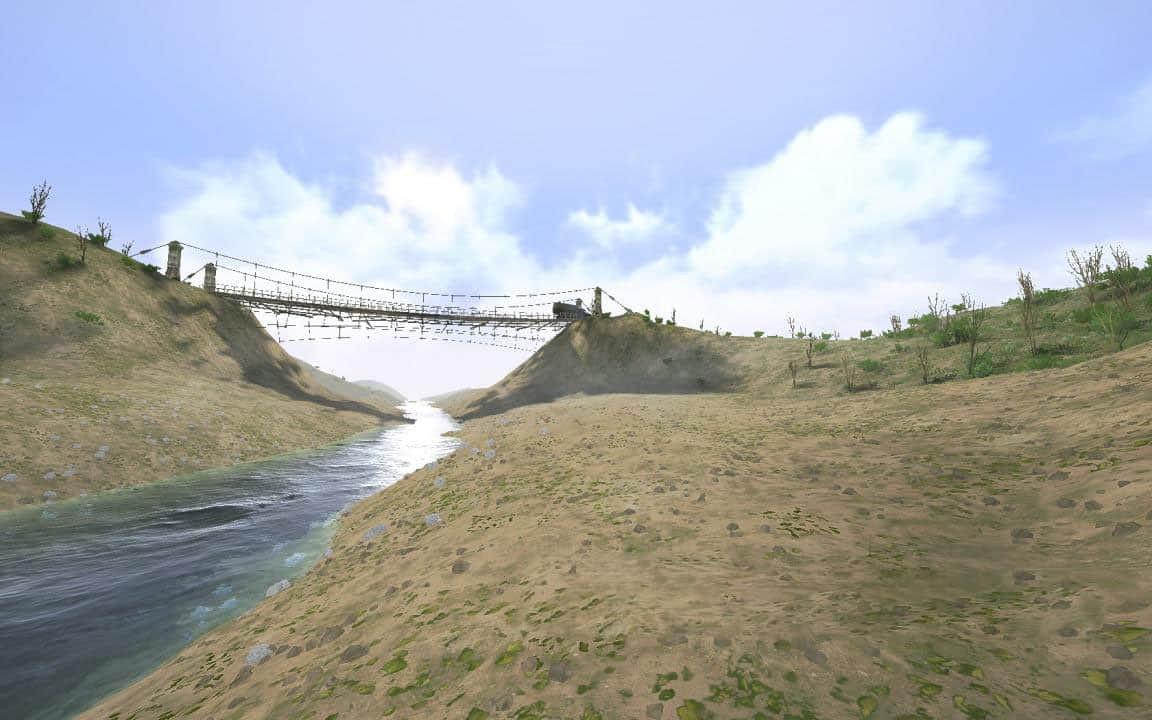 Suspension bridge for SpinTires and MudRunner editors