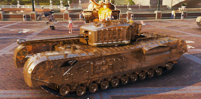 Churchill VII golden skin