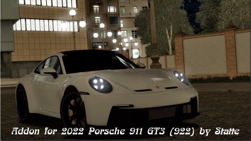 ADDON FOR 2022 PORSCHE 911 GT3 (922) BY STATTE