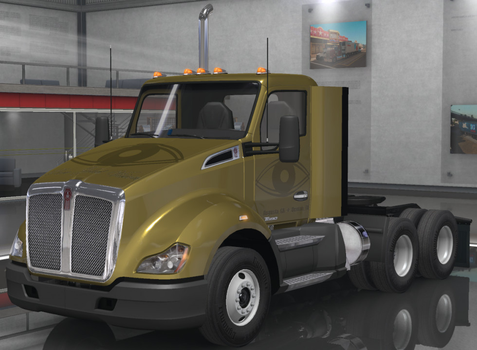 Pure Gold Vision Skins - Kenworth T680 Duty Day Cabin