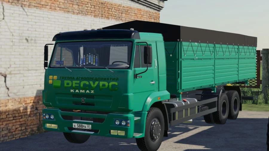 Kamaz 65117 grain truck