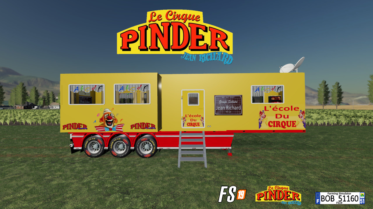 FS19 Trailer Ecole PINDER By BOB51160