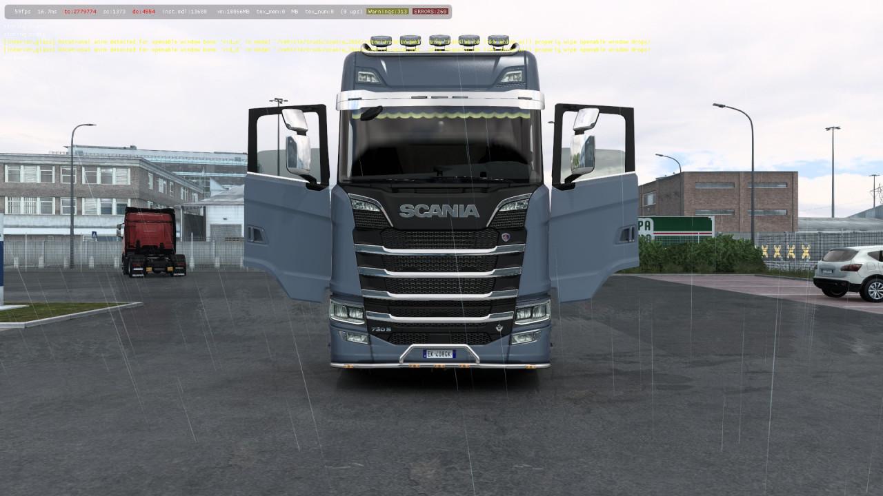 All Scania Trucks Door Animation Mod – ETS2 1.41
