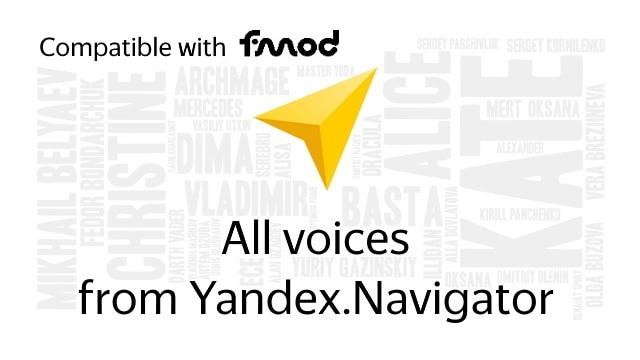 Yandex.Navigator - All voices