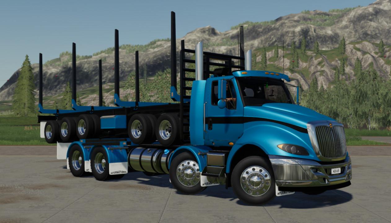 International Prostar Logging Truck & 5 Axle Trailer