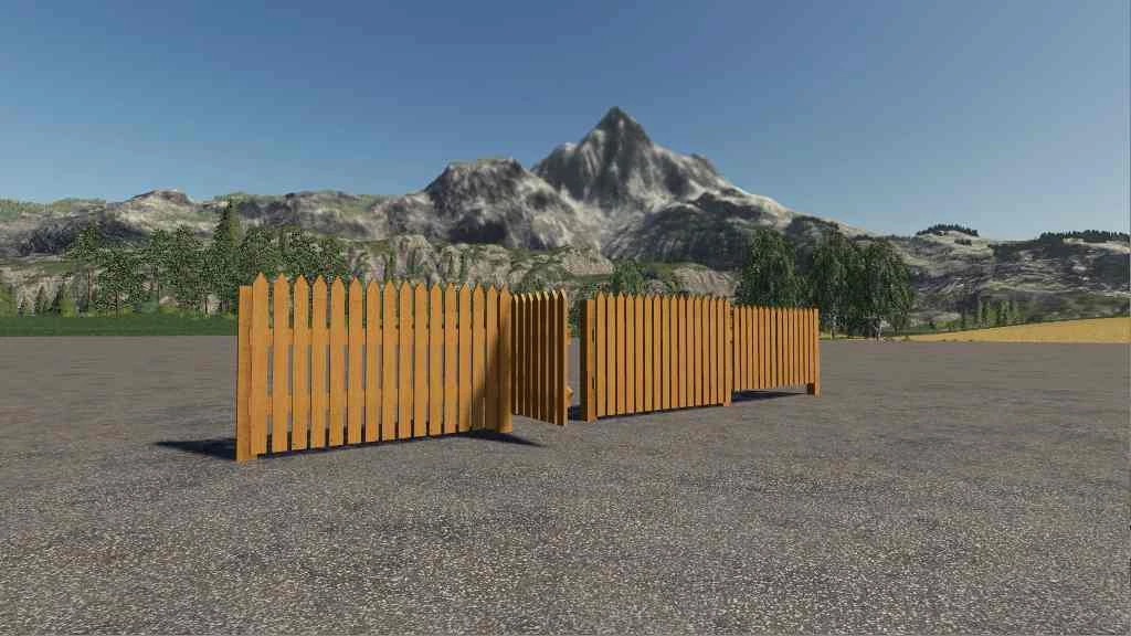 Fence Pack with bright wood