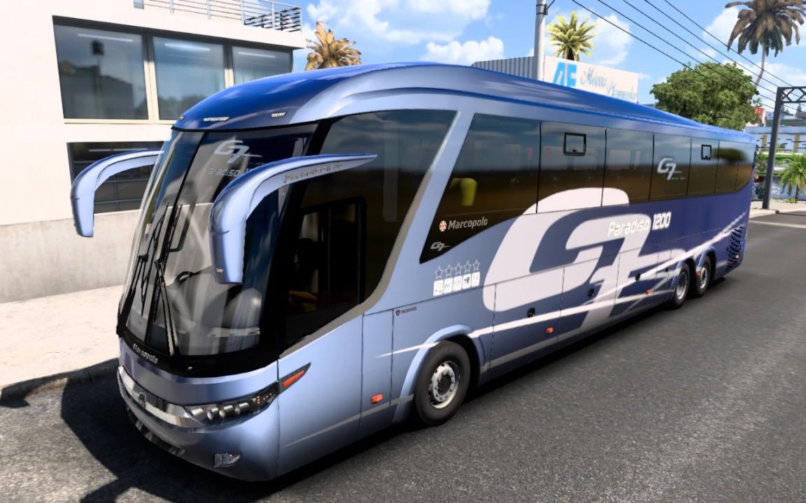 Marcopolo G7 1200 6x2 Facelift Scania ATS - ETS2 1.40.1.41,1.42beta