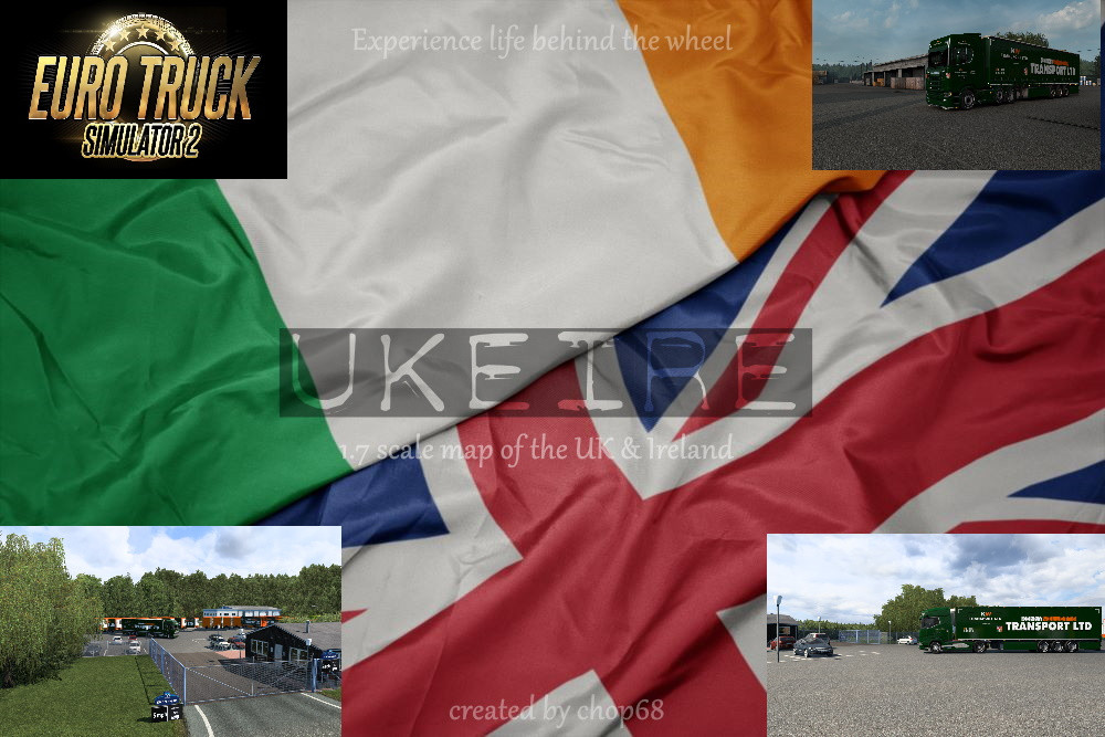 Ukeire Map Mod ETS2 1.41