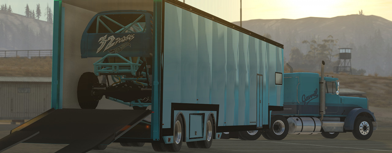 53' RACE TRAILER WITH LIVING QUARTERS